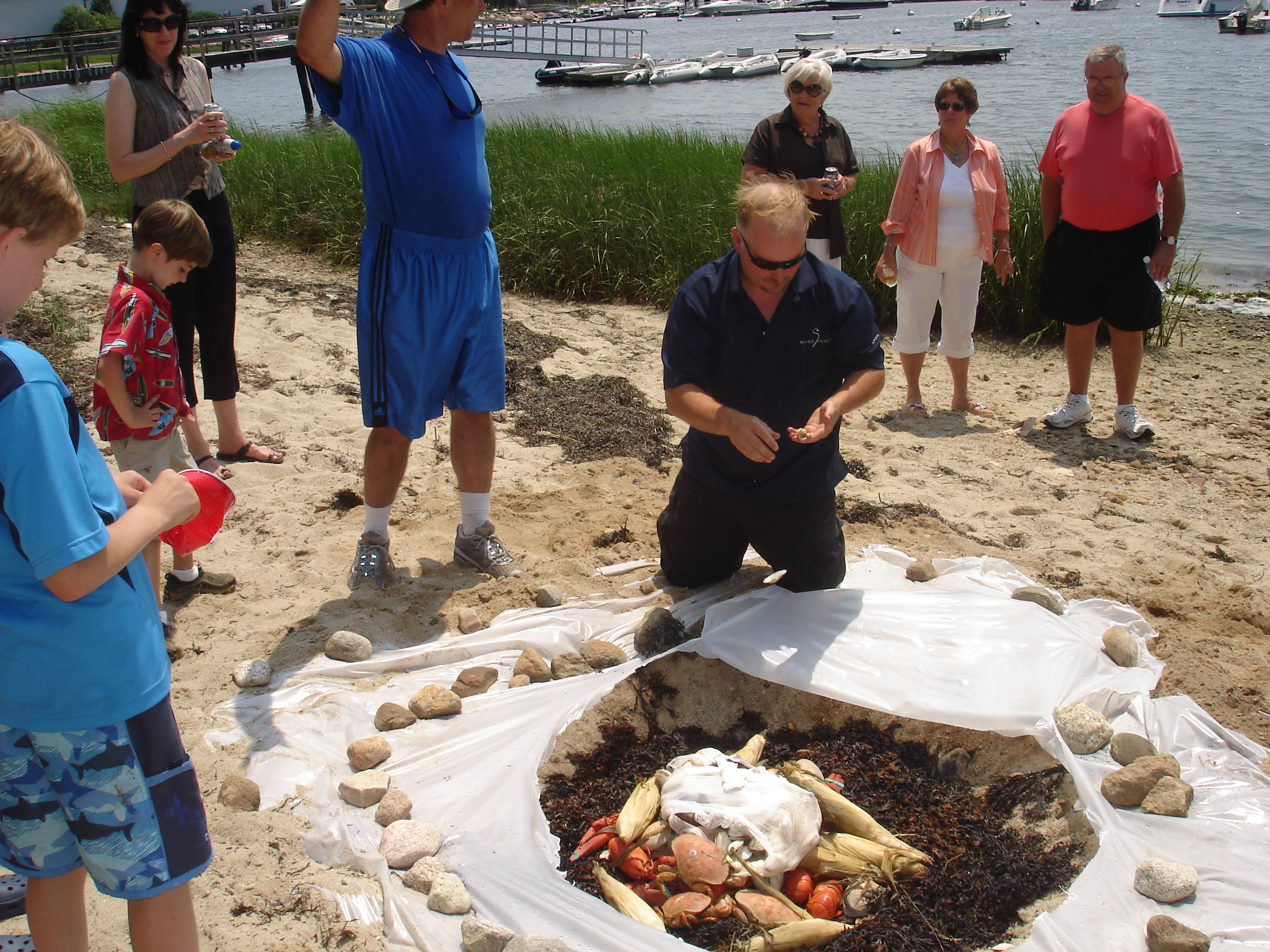 outer cape clambake enjoy a delicious appetizer a huge meal and